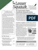 January-February 2009 Lesser Squawk Newsletter, Charleston Audubon