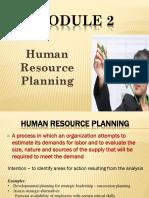 Module 2 HR Planning