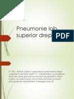 Pneumonie Lob Superior Drept