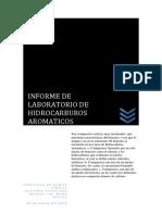Informe de Laboratorio de Hidrocarburos Aromaticos