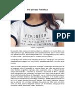 Por qué soy feminista