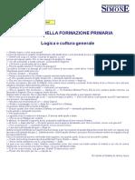 SCIENZE DELLA FORMAZIONE PRIMARIA Logica e cultura generale