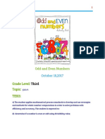 mini lesson on odd and even numbers