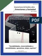 Sociabilidades, Vivencialidades y Sensibilidades.