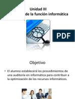 Auditoría de La Función Informática