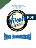 Proyecto Educativo Institucional PEI Academia Jireh