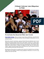 Masalah Pidato Pribumi, Gubernur Anies Dilaporkan Ke Polisi
