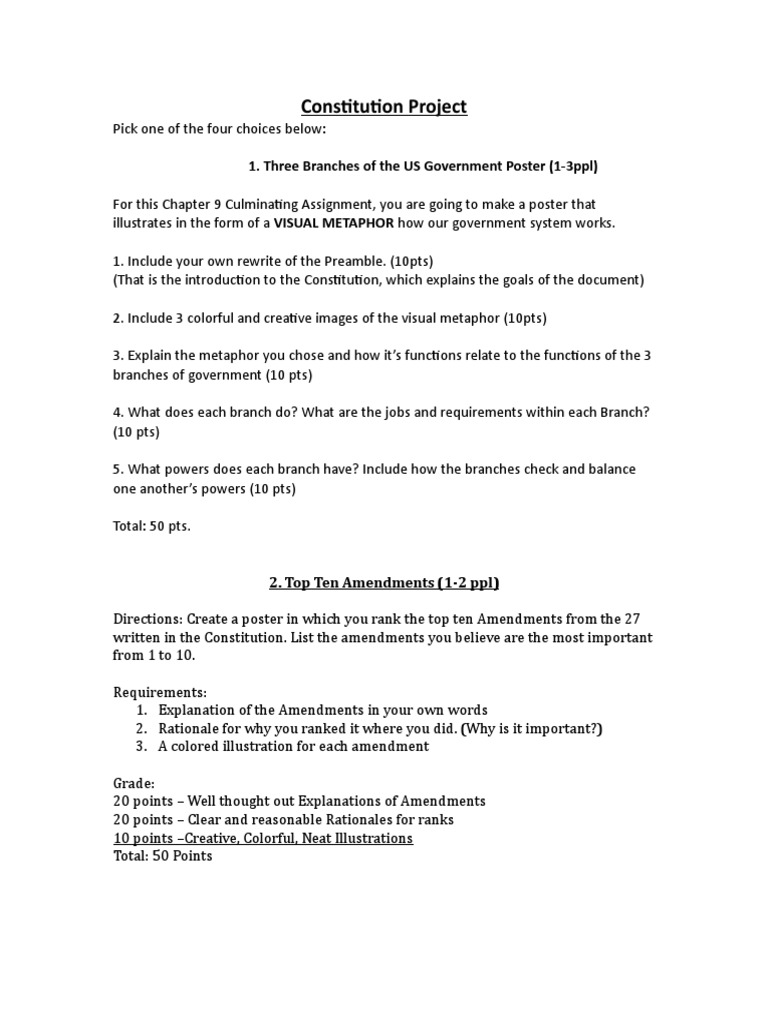 create your own constitution assignment
