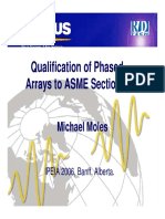 Qualification of Phased Arrays