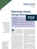 ODI-Reforming Climate Change Finance
