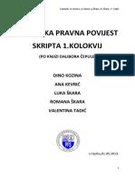 Hrvatska Pravna Povijest Prvi Dio (Fv)