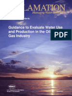 Guidance to Evaluate Water Use and Production in the Oil and Gas Industry
