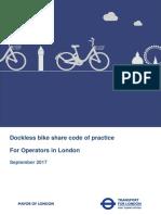 Dockless Bike Share Code of Practice September 2017