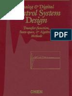 Analog & Digital Control System Design-CT Chen