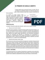 Glaucoma Primario de Angulo Abierto Resumen