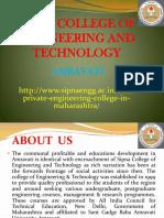 Best Private Engineering College in Maharashtra | Sipna Engineering College Amaravati