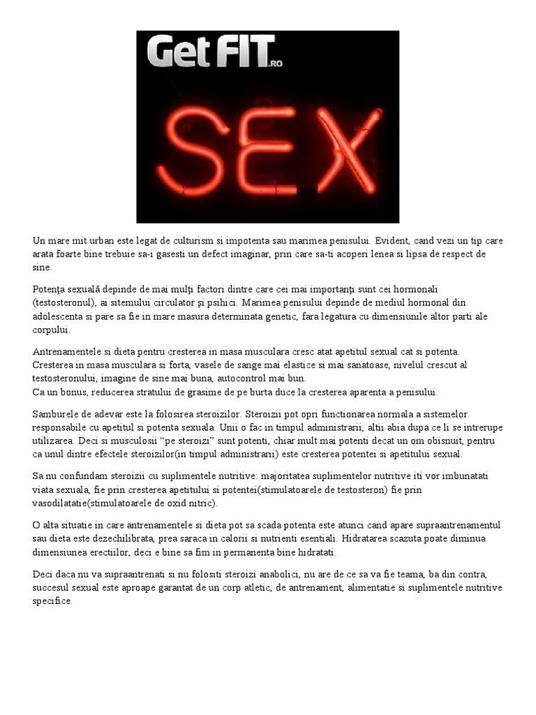 suplimente nutritive pentru potenta sexuala când penisul nu poate citi