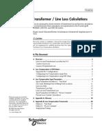Transformer Line Loss Calculations