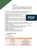 Principales ISO Existentes