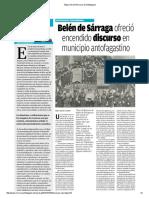 El Mercurio Antofagasta Con Memoria Belén de Sárraga
