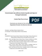 Caracterização Das Práticas Actuais de Gestão Pós-fogo Em Portugal Continental