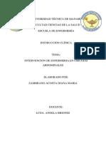 INTERVENCION DE ENFERMERIA EN CIRUGIAS ABDOMINALES