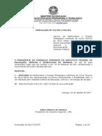 CS 34 - Aprova Ad Referendum o Projeto Pedagógico Unificado Do Curso Técnico de Nível Médio Em Administração Na Forma Concomitante e Modalidade EAD