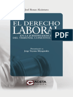 El Derecho Laboral en La Jurisprudencia Del TC - Joel Rosas Alcántara