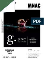 """Nota Imprensa sobre a exposição """"Género na Arte. Corpo, sexualidade, identidade, resistência"""", Museu do Chiado, Lisboa, Outubro de 2017"""