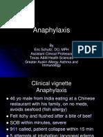 Anaphylaxis - Eric Schultz