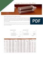 High Pressure Muffler Data Sheet