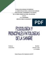 Fisiología de La Sangre Trabajo Medico Quirurgico