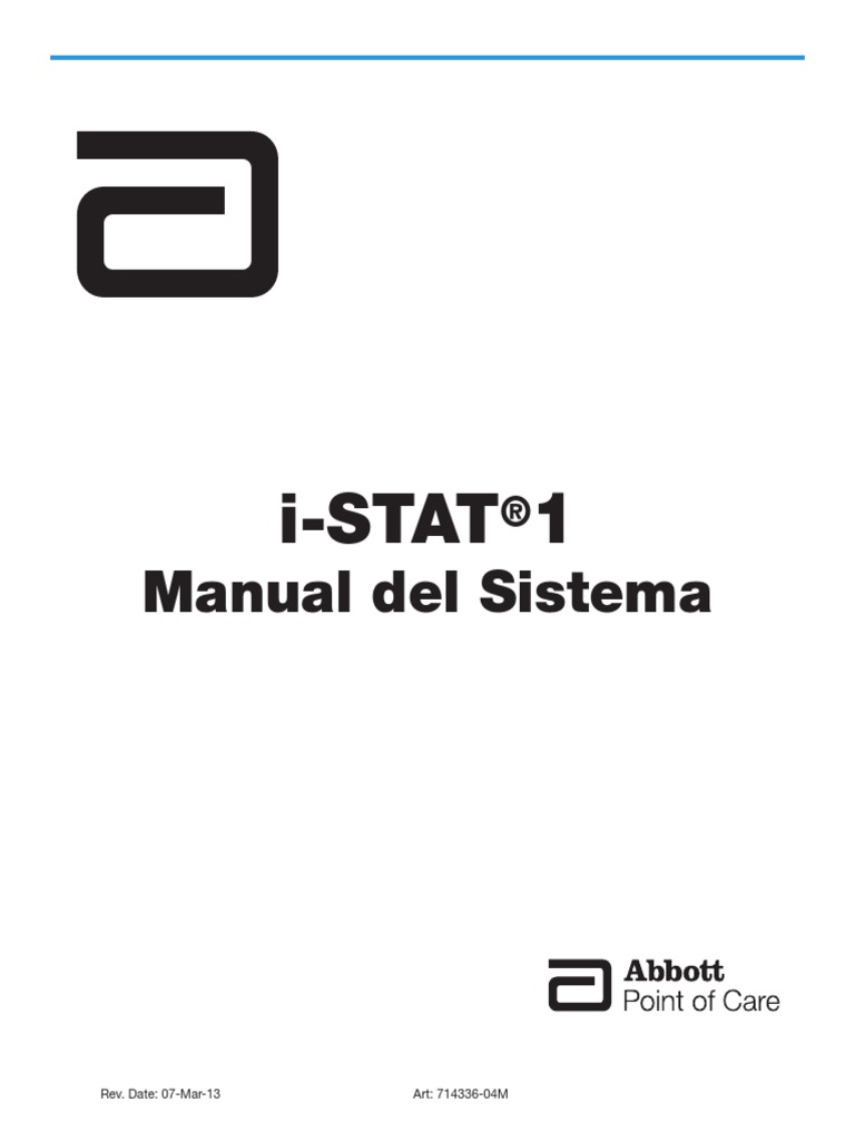 I-STAT 1 System Manual Spanish 014331-04 48A
