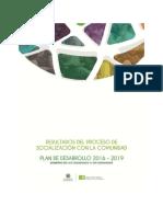 Informe Socialización Plan de Desarrollo-2016-2019