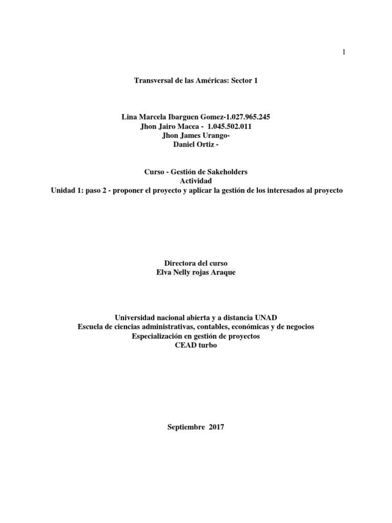 Version 1 Stakeholders
