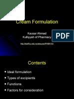 PHM4153 Cream Formulation