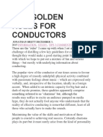 Five Golden Rules for Conductors