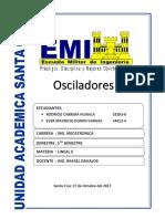 INFORME OSCILADORES DAVALOS
