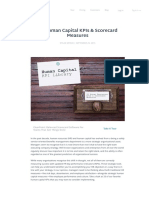 33 Human Capital KPIs & Scorecard Measures