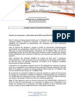 Compte Rendu Du Conseil Des Ministres - 18 Octobre (2)