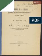 Ensayo sobre la Libertad Civil por Cecilio Báez. Asunción 1893