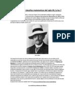 Hilbert y Sus 23 Desafios Matematicos Del Siglo XX