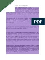 Detección de Problemas Del Lenguaje y Las Estrategias de Su Mejora