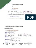 Ácidos Polipróticos (Espécies Intermediárias)