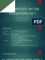 Intervención en Las Matemáticas I Presentacion