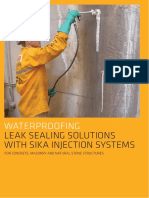 Brochure Waterproofing Leak Sealing Solutions With Sika Injection Systems Nz