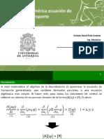 Clase 8 CFD - Discretizacion Integración Numérica Ecuación de Transporte