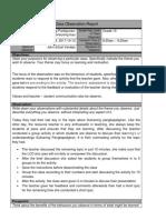 class observation report template