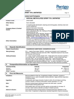 Spe01495f Msds | Dangerous Goods | Combustion