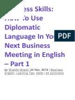 Business Skills Using Diplomaticlanguage2017